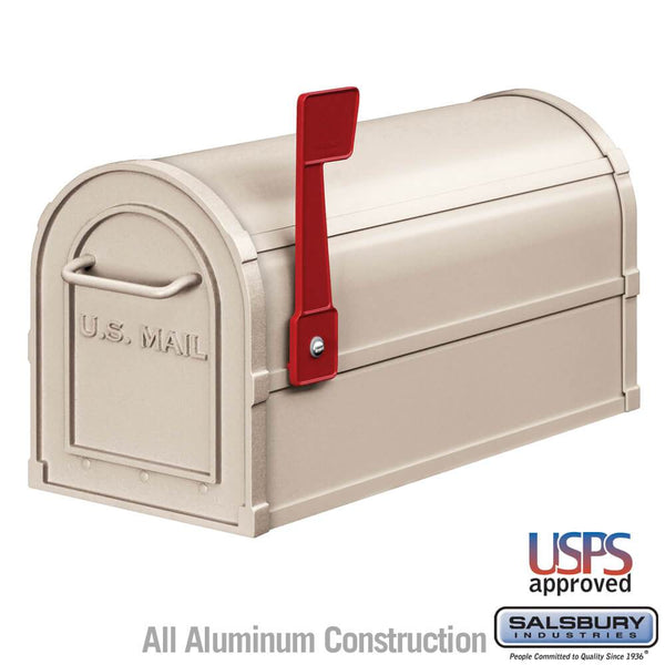 Heavy Duty Rural Mailbox  - Beige