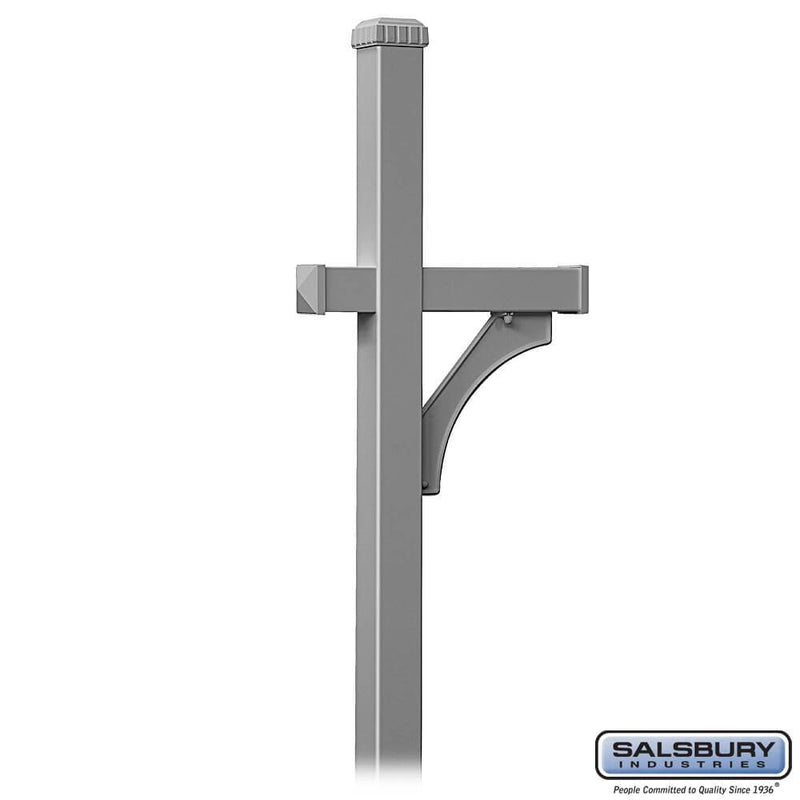 Deluxe Mailbox Post - 1 Sided - In-Ground Mounted  - Nickel