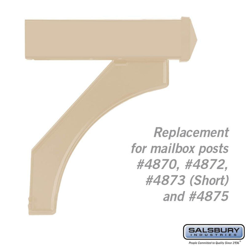 Arm Kit - Replacement for Deluxe Post for (1)  Mailbox  - Beige
