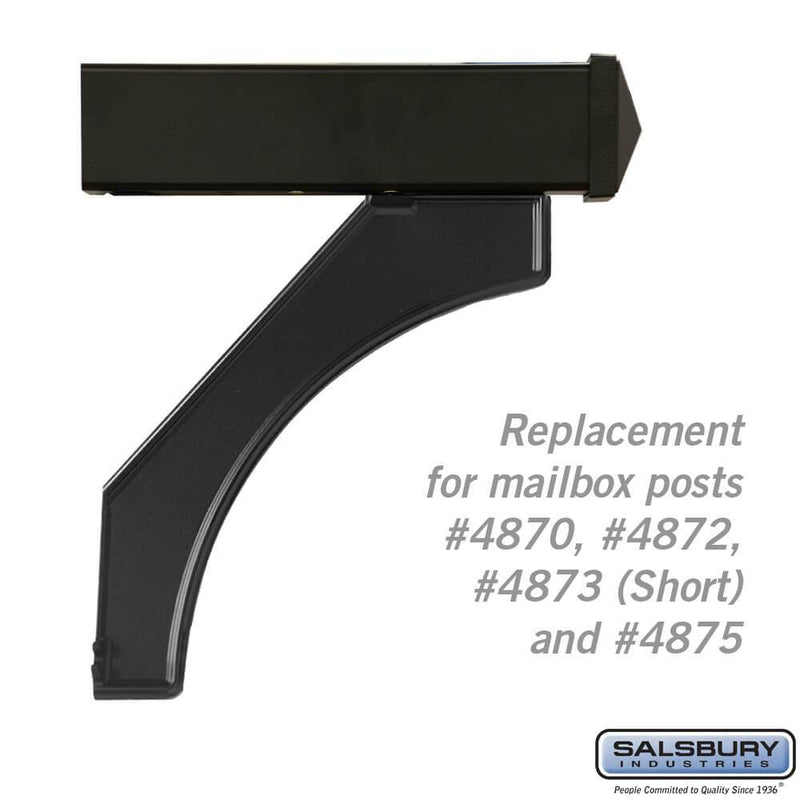 Arm Kit - Replacement for Deluxe Post for (1)  Mailbox  - Black