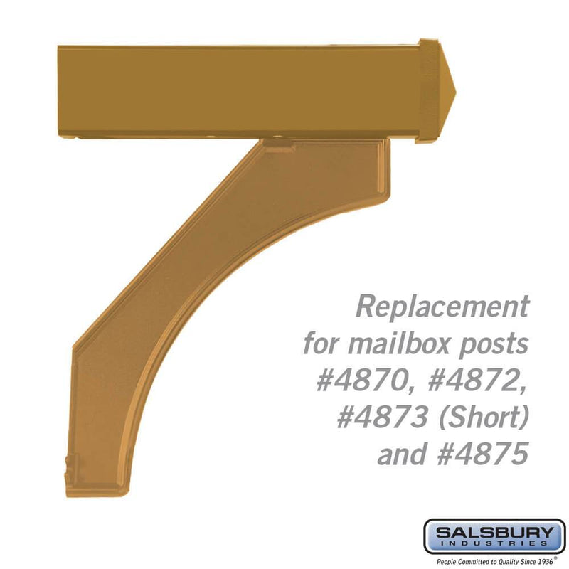 Arm Kit - Replacement for Deluxe Post for (1)  Mailbox  - Brass