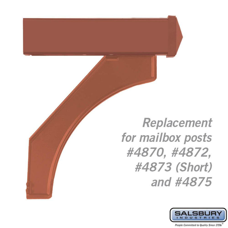 Arm Kit - Replacement for Deluxe Post for (1)  Mailbox  - Copper