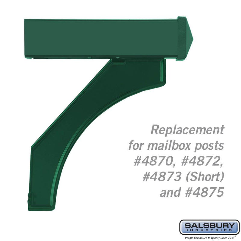 Arm Kit - Replacement for Deluxe Post for (1)  Mailbox  - Green