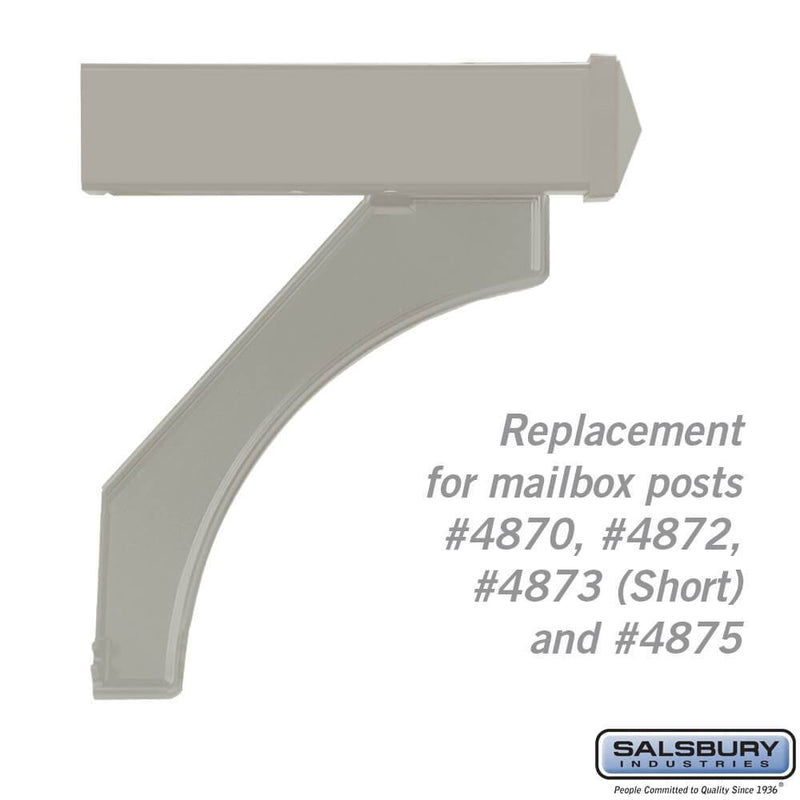 Arm Kit - Replacement for Deluxe Post for (1)  Mailbox  - Nickel
