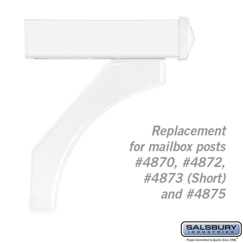 Arm Kit - Replacement for Deluxe Post for (1)  Mailbox  - White