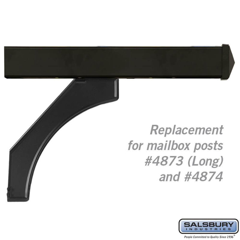 Arm Kit - Replacement for Deluxe Post for (2) Mailboxes  - Black