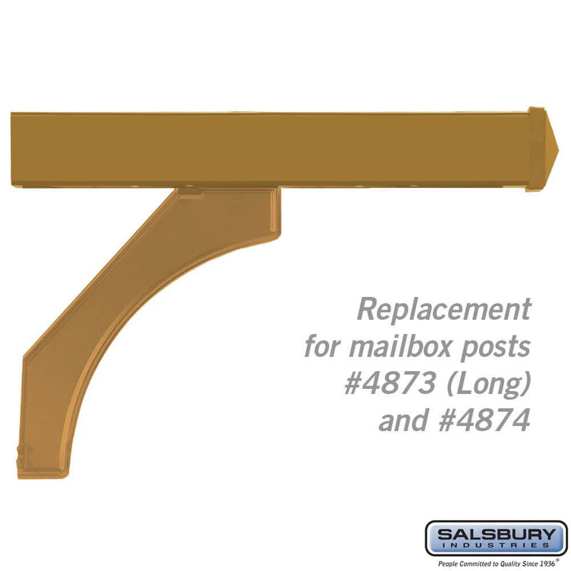 Arm Kit - Replacement for Deluxe Post for (2) Mailboxes  - Brass