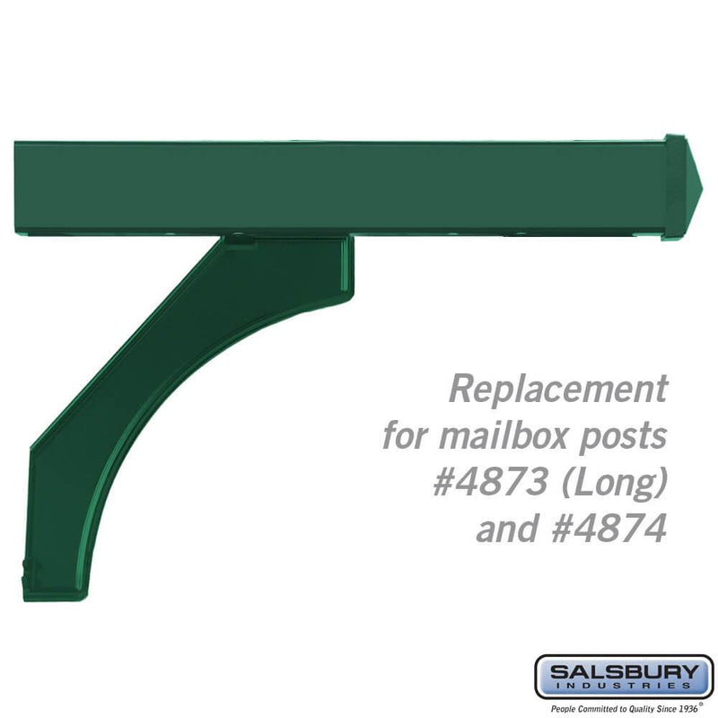 Arm Kit - Replacement for Deluxe Post for (2) Mailboxes  - Green