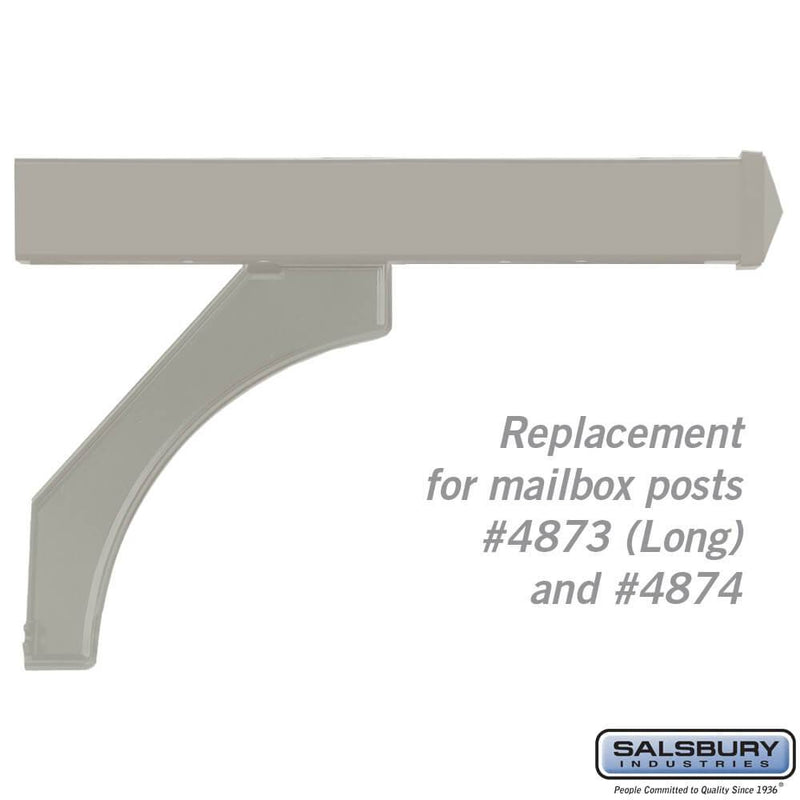 Arm Kit - Replacement for Deluxe Post for (2) Mailboxes  - Nickel