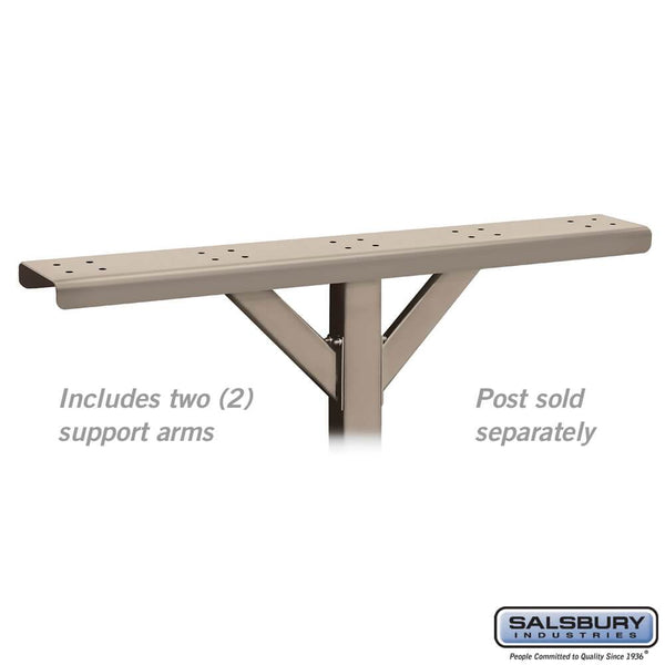 Spreader - 5 Wide with 2 Supporting Arms - for Rural Mailboxes and Townhouse Mailboxes  - Beige
