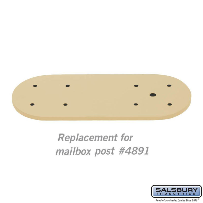 Arm Kit - Replacement for Classic Mailbox Post - 1 Sided  - Beige