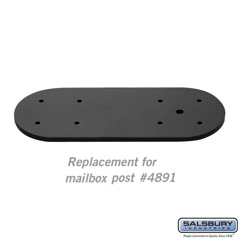 Arm Kit - Replacement for Classic Mailbox Post - 1 Sided  - Black