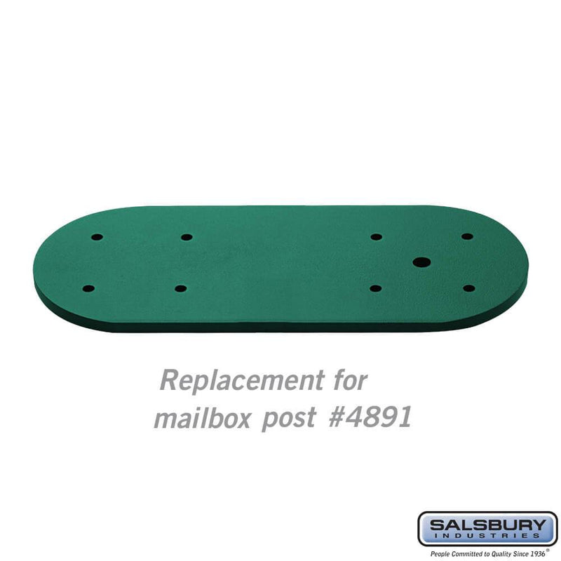 Arm Kit - Replacement for Classic Mailbox Post - 1 Sided  - Green