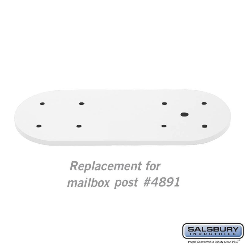 Arm Kit - Replacement for Classic Mailbox Post - 1 Sided  - White