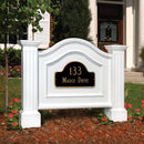 Mayne Nantucket Address Sign - MailboxEmpire