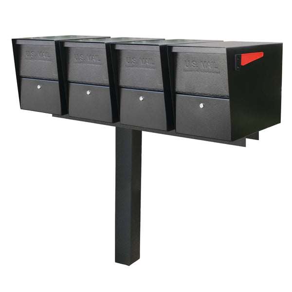 Mail Boss Quadruple Package Master Locking Mailbox Post Package