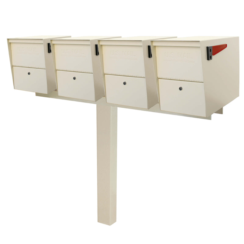 Mail Boss Quadruple Package Master Locking Mailbox & Post