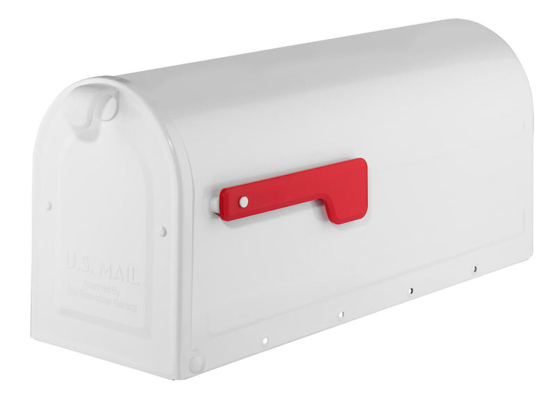 Architectural Mailboxes MB1 Post Mount Mailbox with Red Flag