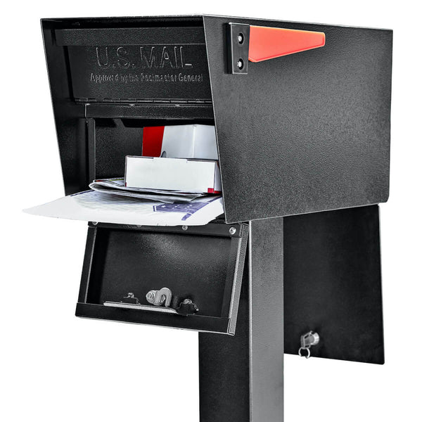 Mail Boss Mail Manager Street Safe Latitude - Front / Rear Access Mailbox & Post