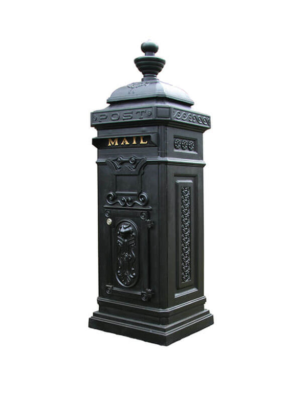 Ecco - Victorian Tower Column Front & Rear Access Locking Mailbox