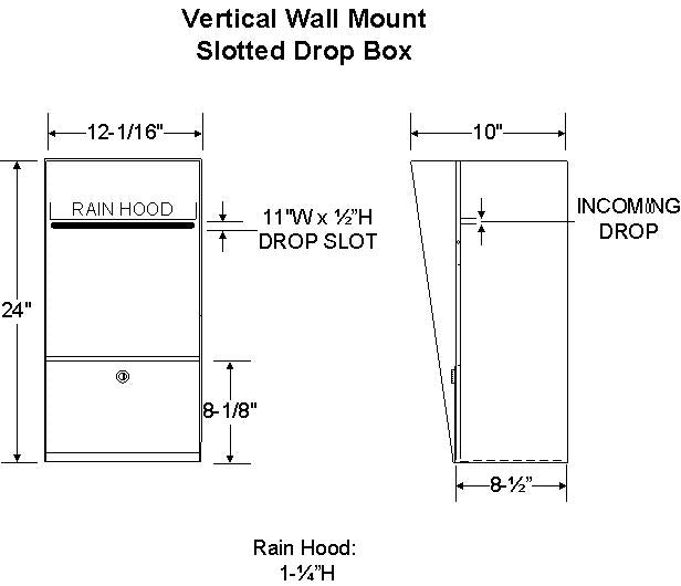 Vertical Letter Locker Wall Mount Drop Box Specifications