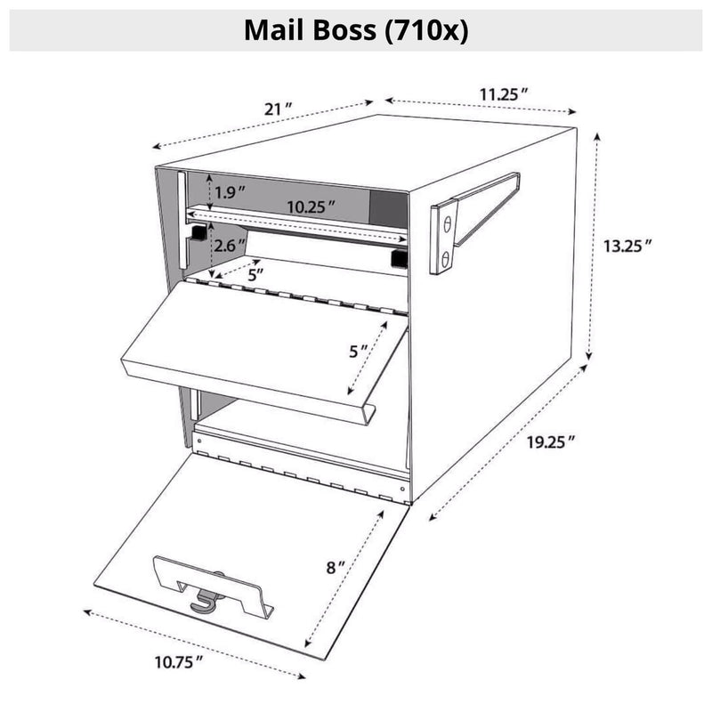 Mail Boss Double High-Security Locking Mailbox & Post Package