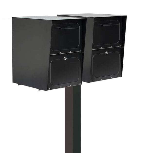 Architectural Mailboxes Oasis Drop Box Double Post Mounted Mailbox