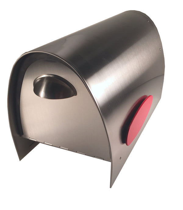 Spira Unique Post Mount Mailbox - Medium Stainless Steel - MailboxEmpire