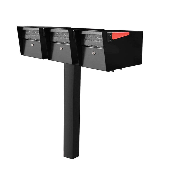 Mail Boss Triple Mail Manager Locking Mailbox & Post