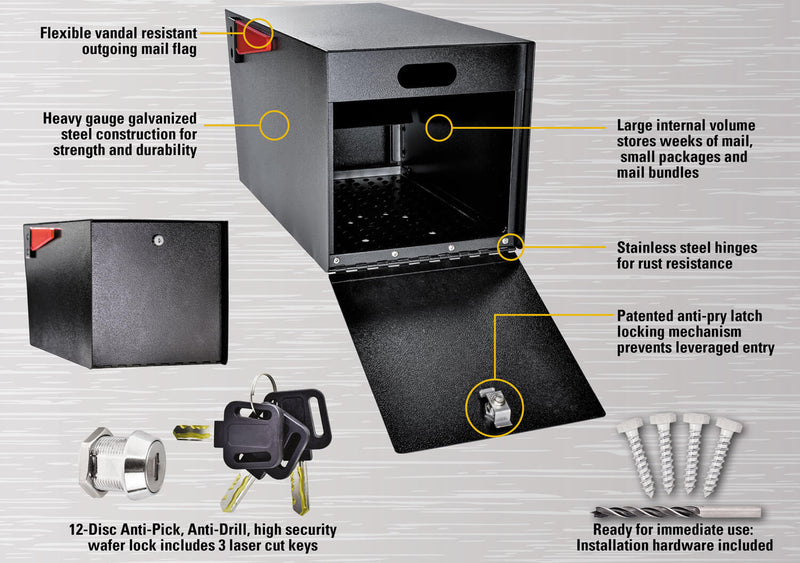 Mail Boss Mail Manager Street Safe - Rear Access Only