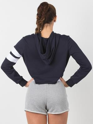 RYDERWEAR CALI CROPPED HOODIE NAVY - ExtremeNutritionSA