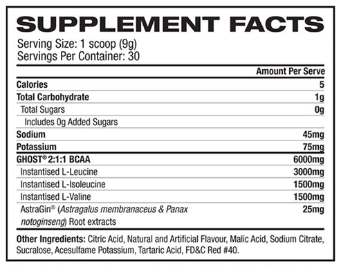 GHOST BCAA - ExtremeNutritionSA