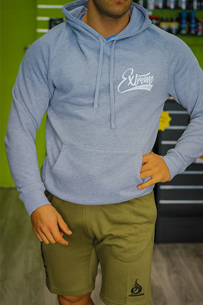 EXTREME SCRIPT HOODIE GREY - ExtremeNutritionSA