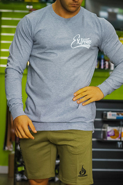 EXTREME SCRIPT LONG SLEEVE GREY - ExtremeNutritionSA
