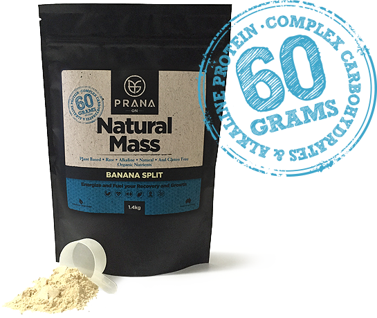 Prana NATURAL MASS - Vegan Mass Gainer Protein - ExtremeNutritionSA