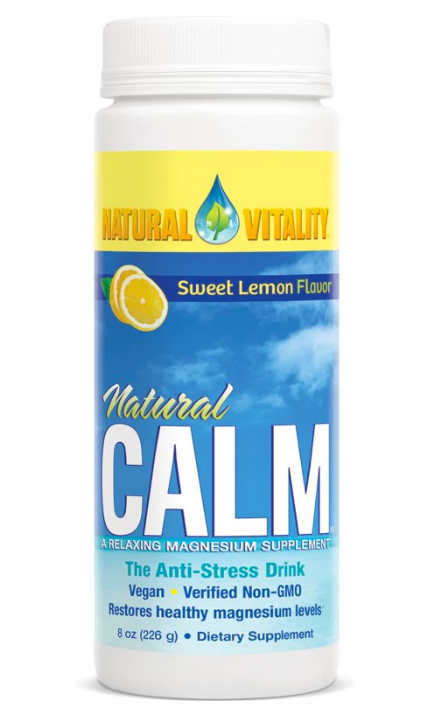 Natural Vitality, Natural Calm, The Anti-Stress Drink, Organic Sweet Lemon Flavor