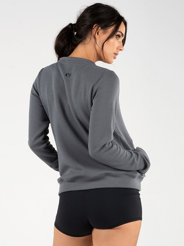 RYDERWEAR RAISE CREW NECK CHARCOAL - ExtremeNutritionSA