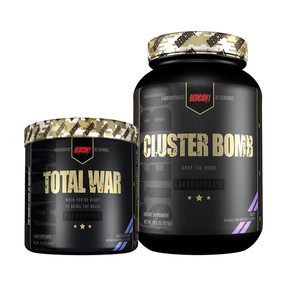Total War + ClusterBomb Pre workout Intra stack - ExtremeNutritionSA