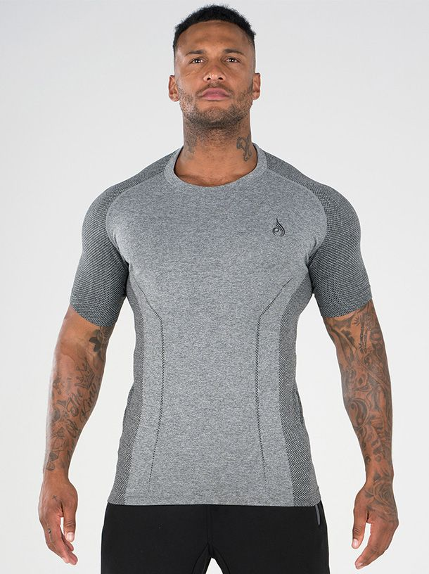 RYDERWEAR SEAMLESS T-SHIRT GREY - ExtremeNutritionSA