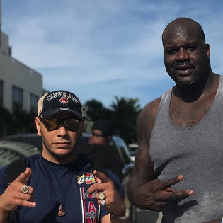 Mopacino Spends Quality Time With Shaq For Super Bowl Weekend