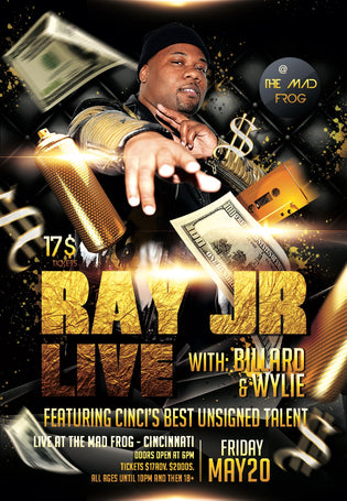 Ray Jr. LIVE in Cinci (May 20th)