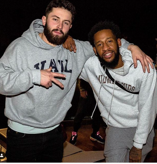 Baker Mayfield Pulls Up On Machine Gun Kelly's Studio Session In LA