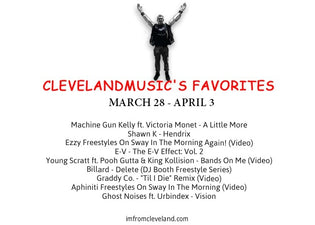 #ClevelandMusic's Favorites (March 28 - April 3)