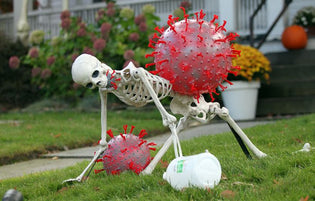 Cleveland Home Halloween Decorations - Coronavirus