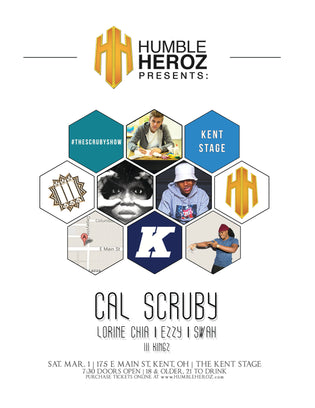 Cal Scruby, Lorine Chia, Ezzy, x Swah At Kent Stage March 1st