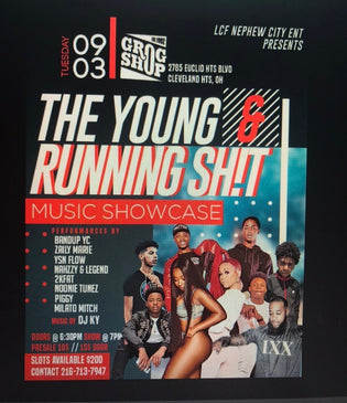 The Young & Running Shit Showcase @ The Grog Shop September 3rd