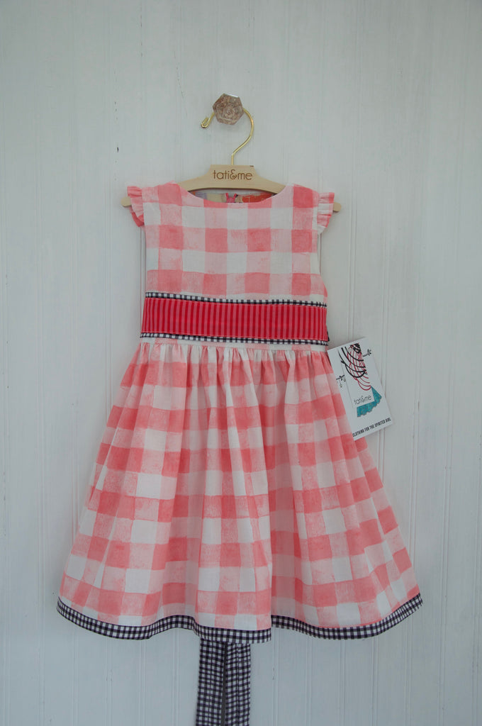 Watercolor Gingham- 18 mo. old