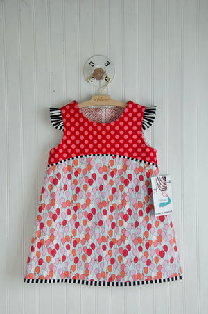 Up, up and away A-line Dress- 3 yr. old