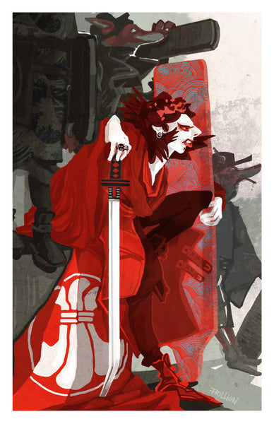 Skysurfing Gang: Hakusho Geisha and Foxes Art Print