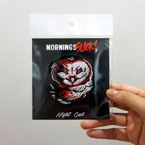 Mornings Suck! Inked Owl patch